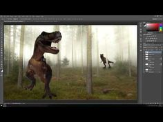 Photoshop Tutorial - Photo Manipulation - The battle of the Dinosaurs