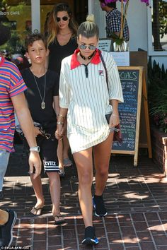 Busy day: Sofia was spotted out earlier in the day at Fred Segal in West…