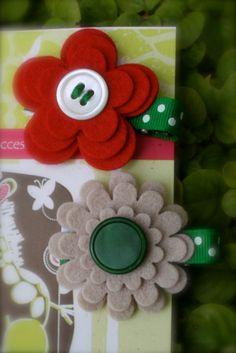 Handmade Felt Flower Clips