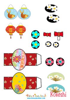 Kokeshi Accessories by margret