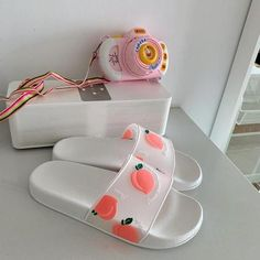 Pretty Shoes, Cute Shoes, Me Too Shoes, Peach Aesthetic, Aesthetic Shoes, Sneakers Fashion, Fashion Shoes, Shoes Sneakers, Black And White Sandals