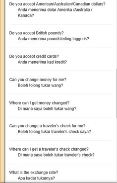 A list of common Malay words and phrases about Money translated into English. Learn To English, English Study, English Lessons, English Grammar Tenses, English Vocabulary Words, English Speech, Malay Language, Indonesian Language, Learn Korea