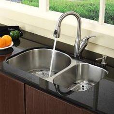 Undermount Kitchen Sink Double Faucet on farmhouse kitchen sink faucet, wall mount kitchen sink faucet, single kitchen sink faucet,
