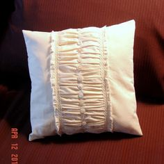 Make The Best of Things: French Lingerie Style Pretty Muslin Pillows