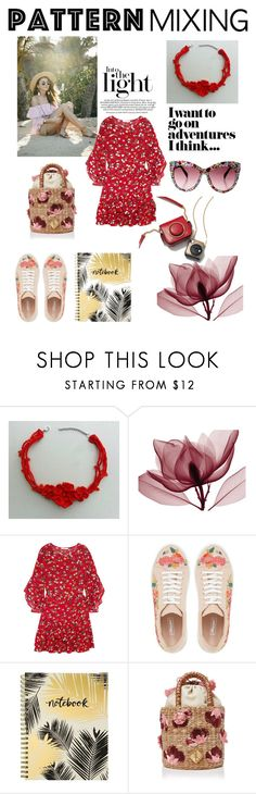 """""""floral print"""" by tatianagavrilova ❤ liked on Polyvore featuring Maje, Dune, Studio Oh! and Aranáz"""