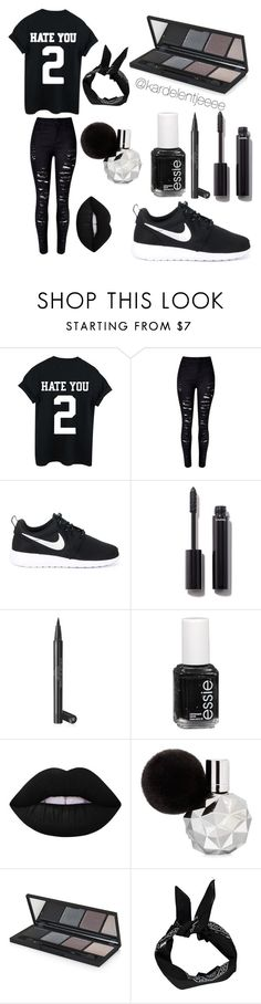 """""""#46"""" by kardelentjeeee ❤ liked on Polyvore featuring NIKE, Chanel, Essie, Lime Crime, Topshop and Boohoo"""