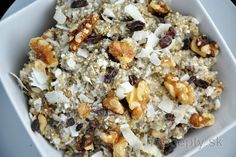 Healthy Quinoa Porridge with Quark Healthy Desserts, Healthy Recipes, Quinoa Porridge, Desserts Sains, Tasty, Yummy Food, Snack Recipes, Snacks, Shredded Coconut