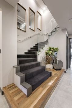 📣 97 Most Popular Modern House Stairs Design Models 12 Home Stairs Design, Interior Stairs, Modern House Design, Home Interior Design, Modern Stairs Design, Stairs Architecture, Interior Architecture, Stair Decor, House Stairs