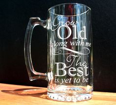gotta have a beer stein if we have the champagne flutes lol