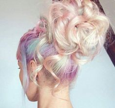 Pastel colors dyed hairstyle - http://ninjacosmico.com/28-crazy-hairstyles-ideas/