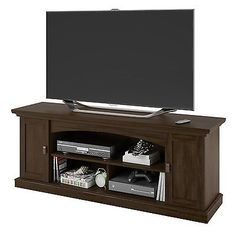 """TV Stand Console Entertainment DVD Media Center Open Storage 3 Shelves Doors 60"""" - BUY NOW ONLY 179.95"""