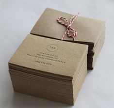 Save the Date Cards Letterpress printed with monogram by MapleTea, £1.40