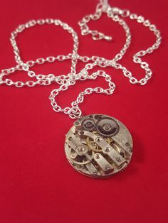Steampunk Necklace with Full Watch Movement  by LikeNewCrafts