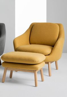 Oslo accent chair, £449 MADE.COM Upholstered in a Yolk Yellow fabric, this charming chair adds character to a living space. It's great looking, and its Velcro cushions are practical too.