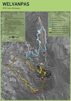 Welvanpas MTB map - iRide AfricaiRide Africa Trail Maps, Mtb, Africa, Tech, Tecnologia, Technology