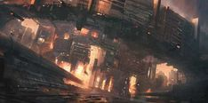 I'm doing some kind of sci fi city series. This industrial city is not the greatest place to live! Plenty of work opportunities though! A city called Furnace Cyberpunk City, Futuristic City, Futuristic Architecture, Sci Fi Stadt, Sci Fi Wallpaper, Sci Fi City, Alien Worlds, Environment Concept, Ideas