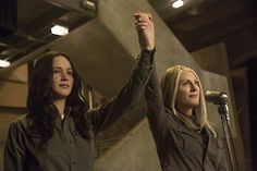 Another Set of New #MockingjayPart1 Stills! #Katniss and #PresidentCoin http://www.panempropaganda.com/movie-countdown/2014/10/13/another-set-of-new-mockingjay-part-1-stills.html/