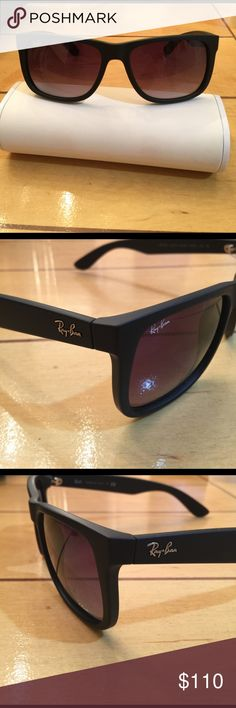Rayban Justin NW 💯% Authentic Rayban sunglasses color black RB4165/ Justin 601/8G /54-16 145 3N made in Italy 🇮🇹 New Ray-Ban Accessories Sunglasses