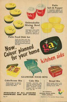 GayWare kitchen aids - Gay Plastics by Pierwood Plastics, Sydney