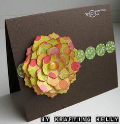 flikr-bday-card-flower by krafting kelly, via Flickr