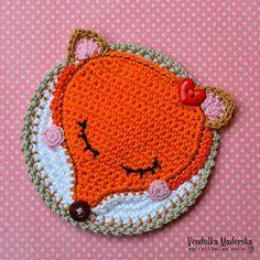 Fox Coaster Crochet Pattern - http://pinterest.com/Allcrochet