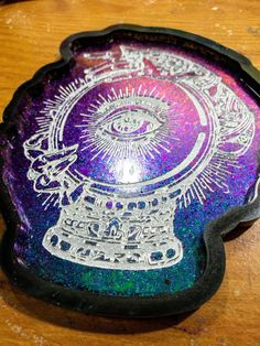 Excited to share this item from my #etsy shop: Fortuna color shift tray #giftideas #gothdecorating #witchcraft Pretty Cool, How To Look Pretty, Cat Skull, Back Painting, Victorian Photos, All Seeing Eye, Acrylic Pouring, Witchcraft, Tray