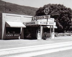 Willowside Service Station, Alpine, circa 1950's.