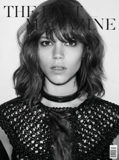the wavy lob with bangs has made an appearance on here several times, probably for a reason.  here it is on Abbey Lee Kershaw.  adorbs.
