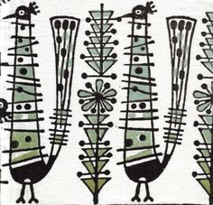 Mid-century fabric :: I love the whimsical and stylized interpretations of this era!