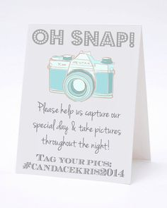 Instagram Facebook Twitter My Wedding Hashtag Table by ilulily, $2.50