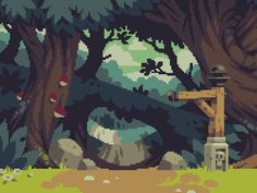 Retronator                   // This is beyond-beautiful background art from...