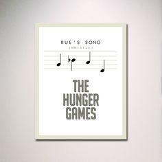 "Rue's Song Hunger Games Inspired Poster 11"" x 14"" in White. $15.00, via Etsy."