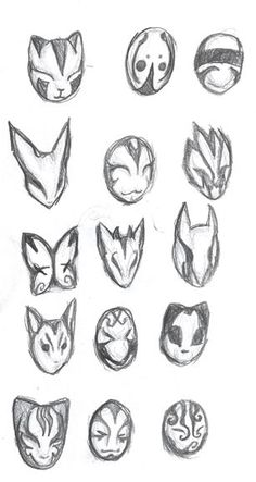 Mask Design - New ideas Mask Drawing, Drawing Base, Pencil Art Drawings, Art Drawings Sketches, Drawing Expressions, Drawing Reference Poses, Drawing Ideas, Masks Art, Anime Sketch