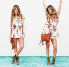 Love this floral print romper!