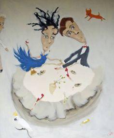 "Saatchi Art Artist Chris Wake; Painting, ""Mr. & Mrs. Normal"" #art"