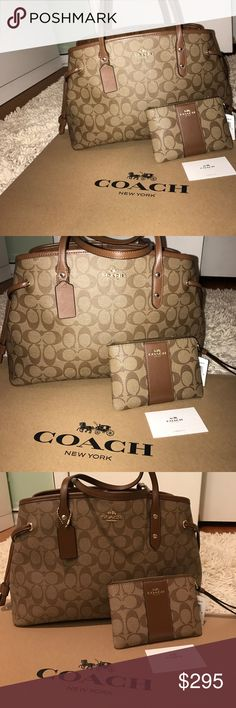 Beautiful coach set 🌸 Authentic. Absolutely gorgeous. Brand new. Both Retails for $$425..This is one of the new collections. It's durable, and will be an eye catcher! Great for work or school. Spoil yourselves ladies. Money comes & goes! Get this while you can💗 comes with coach box & tissue paper. ships same day. Coach Bags