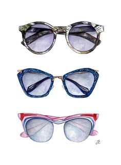 Vintage sunglasses are soo cute. I love the cat-eyes