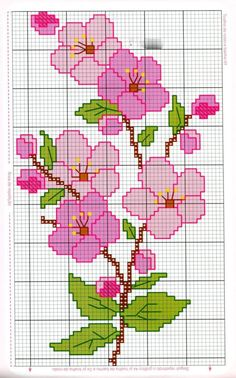 Anaide Ponto Cruz: Beautiful cross stitch graphics for bath towels, leave your c… – Embroidery Cross Stitch Rose, Cross Stitch Borders, Cross Stitch Flowers, Cross Stitch Designs, Cross Stitching, Cross Stitch Embroidery, Embroidery Patterns, Hand Embroidery, Cross Stitch Patterns