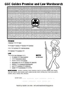 Owl & Toadstool: Wordsearch Puzzles- GG History, Promise