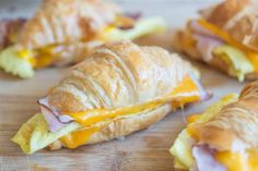 These breakfast sandwiches can be made ahead and stored in the freezer, ready for a quick morning bite. You can use croissants or English muffins, bacon or ham, egg, and cheese!  From Joanne Ozug of Fifteen Spatulas.