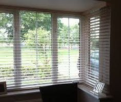 Image result for bay window venetian blinds
