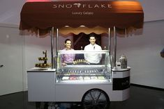 They'll All Scream for Ice Cream; hire a luxury ice cream cart from Snowflake Gelato