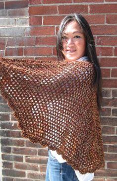 Kraemer Yarns Fall Shawl is a free crochet pattern