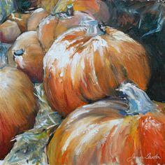 Pumpkins Painting  - Pumpkins Fine Art Print