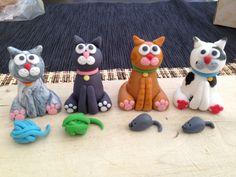 Fondant cats