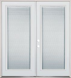 Internal Mini Blind French Patio Doors. Go From Full View To Full Privacy  With