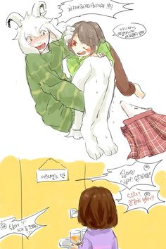 What is chara trying to do? If she's doing what I think she's doing then I hope she succeeds. >:3