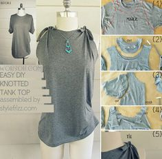 #SimpleDIY Knotted Tank Top