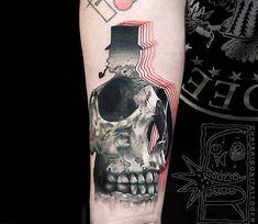 Vibrant Tattoos Mix Unusual Colors and Realistic Details by Chris Rigoni B Tattoo, Tattoo Girls, Tattoo Trend, Tattoo Motive, Tatoo Art, Girl Tattoos, Tattoos For Guys, Skull Tattoos, Forearm Tattoos