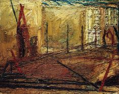 Frank Auerbach (German-British b. 1931) Railway Arches, Bethnal Green II 1958-59. Saatchi Gallery.